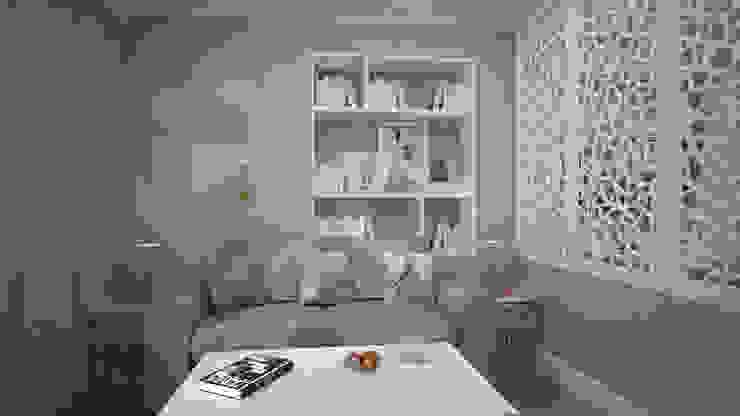 Строгий скандинавский стиль в двух комнатной квартиры в ЖК «Триколор»: Гостиная в . Автор – дизайн-бюро ARTTUNDRA, Скандинавский