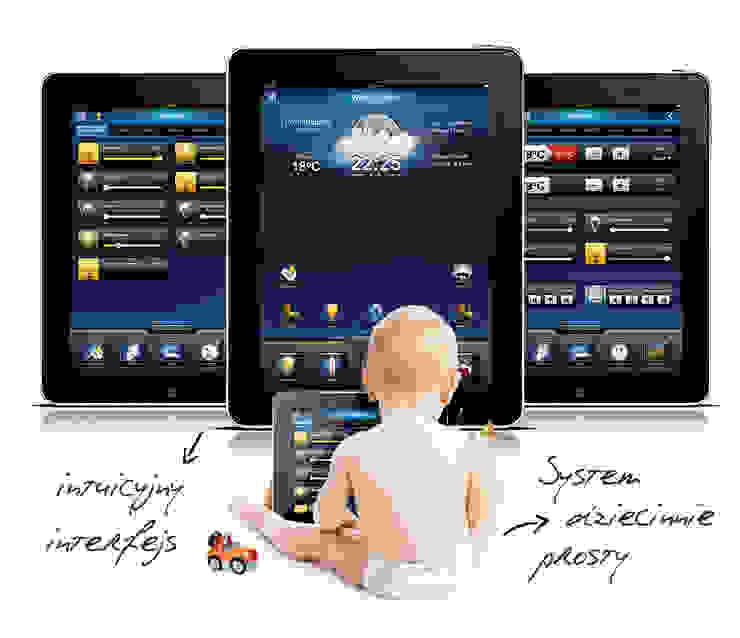 Inteligentny dom – system zarządzania instalacjami Nowoczesny pokój multimedialny od Inteligentny Budynek Polska Nowoczesny