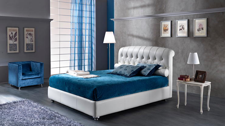 Poltrone & Divani 臥室床與床頭櫃