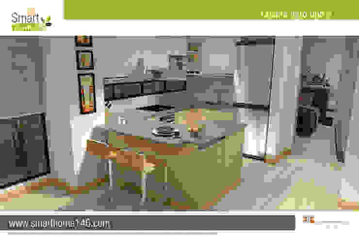 Cocina tipo barra americana Cocinas modernas de AP Construcciones S.A. Moderno Aglomerado