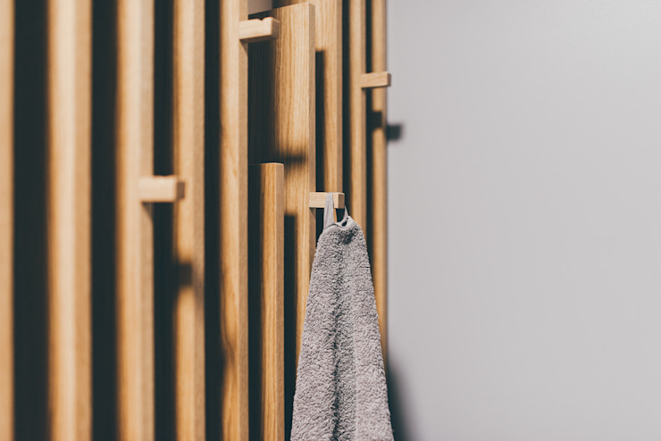 projekt aranżacji apartamentu w Gdyni: styl , w kategorii Łazienka zaprojektowany przez em2,Nowoczesny