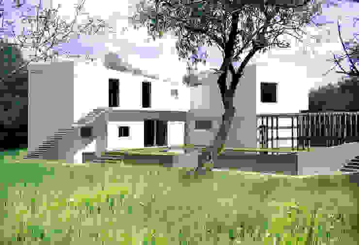 Casa LM Giardino in stile mediterraneo di Domenico Architetto Moschetto Mediterraneo