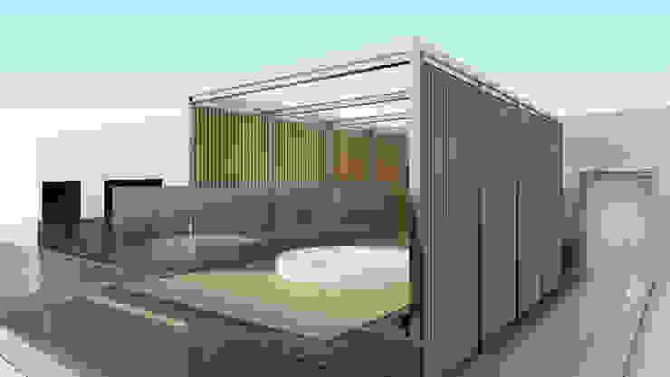 Mini_Piscina_Luanda Piscinas modernas por GRF Metal Design Moderno Ferro/Aço