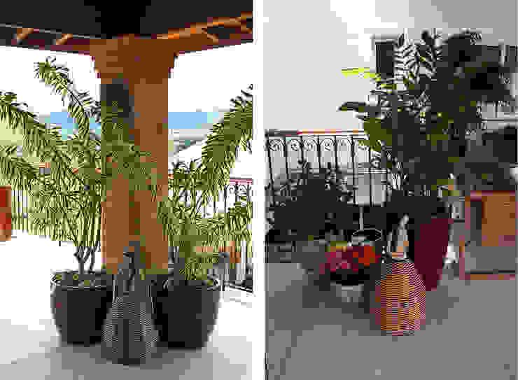 MBDesign Arquitetura & Interiores Country style balcony, veranda & terrace