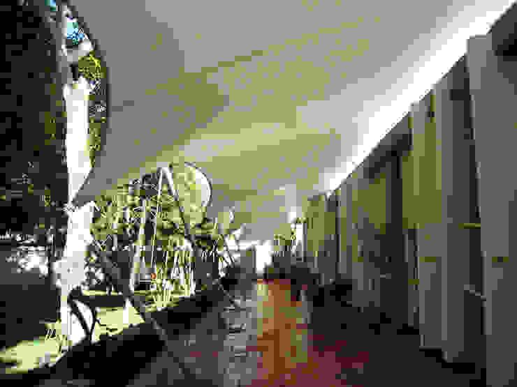 ::MEMBRANAS ARQUITECTONICAS - CLUB CAMPESTRE EL PUENTE :: Casas de estilo tropical de Diseños & Fachadas SAS Tropical