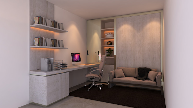 Home Office France por Mdimension Minimalista