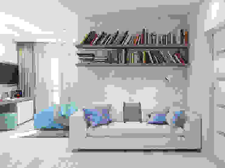 Camera da letto minimalista di Tatiana Zaitseva Design Studio Minimalista