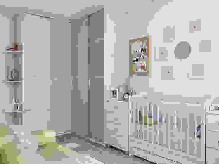 Chambre d'enfant minimaliste par Tatiana Zaitseva Design Studio Minimaliste Bois d'ingénierie Transparent