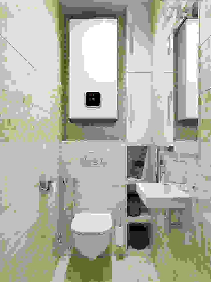 Bagno minimalista di Tatiana Zaitseva Design Studio Minimalista Piastrelle