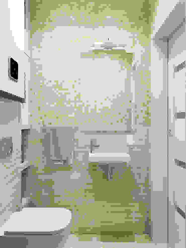 Bagno minimalista di Tatiana Zaitseva Design Studio Minimalista Ceramica