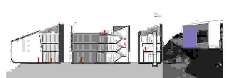 Casa Carlos Barreira – Sustentabilidade (modelo auto-suficiente) Casas ecléticas por Teoriabstrata Arquitetura Unip, lda Eclético