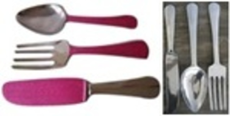 Alu. Giant Wall Deco. Hanging Cutlery: asian  by Alyth Creations,Asian
