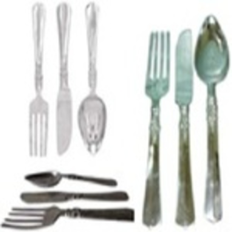 Alu. Wall Deco. Hanging Cutlery Embossed : asian  by Alyth Creations,Asian