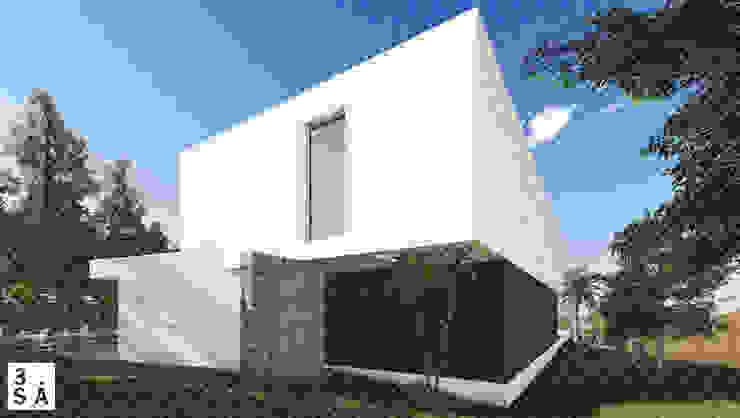 OA LM - Moradia V3 Casas minimalistas por 3.SA Minimalista Betão