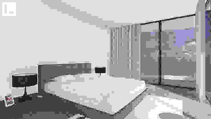 OA LM - Moradia V3 Quartos minimalistas por 3.SA Minimalista Betão