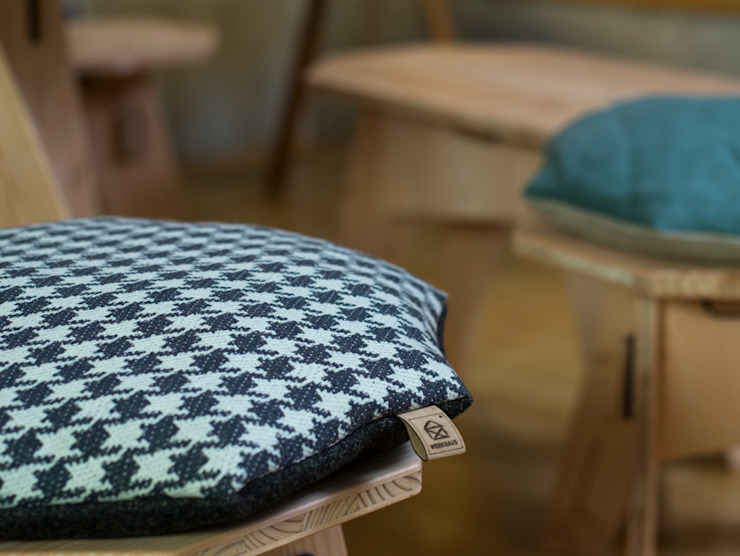 par Werkhaus Design + Produktion GmbH Moderne Textile Ambre/Or