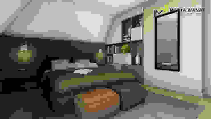 Sypialnia nowoczesna od Marta Wanat Projektowanie Wnętrz