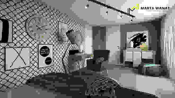 Sypialnia od Marta Wanat Projektowanie Wnętrz