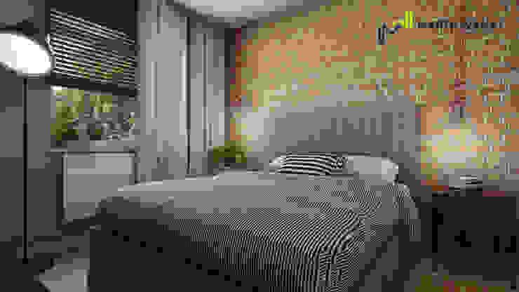 Sypialnia retro od Marta Wanat Projektowanie Wnętrz