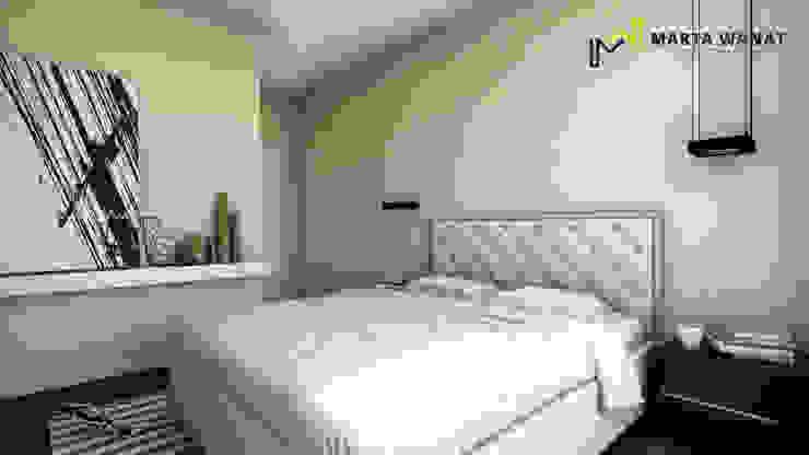 Sypialnia minimalistyczna od Marta Wanat Projektowanie Wnętrz