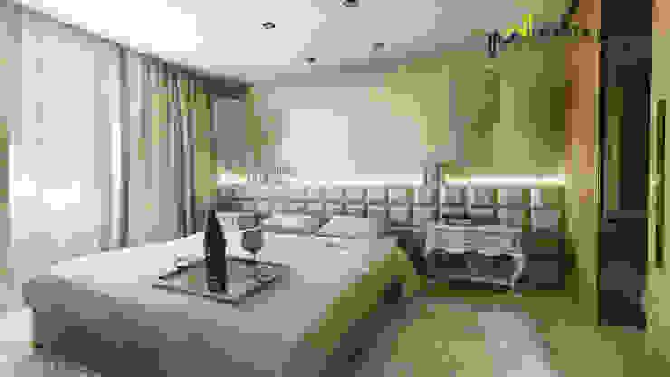 Sypialnia glamour od Marta Wanat Projektowanie Wnętrz
