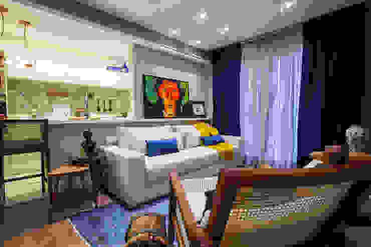 Salas de estilo ecléctico de Estúdio HL - Arquitetura e Interiores Ecléctico