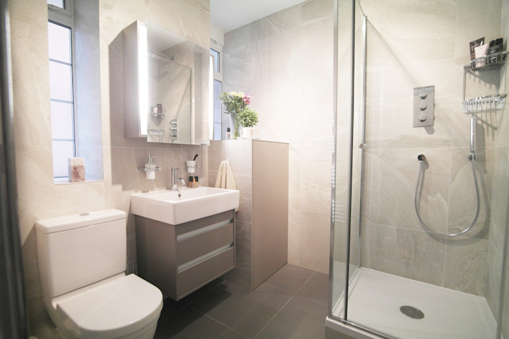St John's Wood Patience Designs Studio Ltd Modern style bathrooms