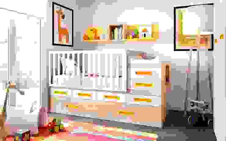 Mobiliário para bebé transformável em quarto de criança por o quarto dos miúdos Moderno Madeira Acabamento em madeira