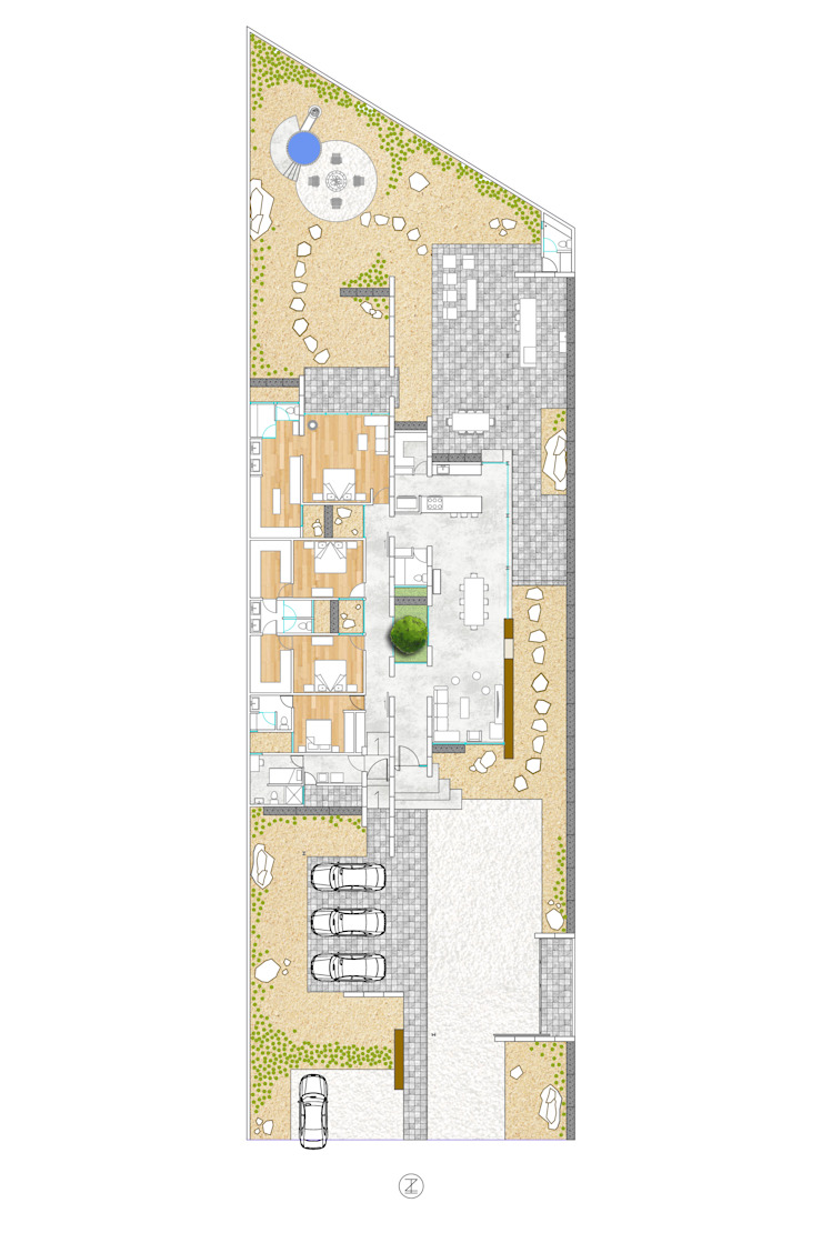 Casa 0316. Dormitorios modernos de Lozano Arquitectos Moderno Derivados de madera Transparente