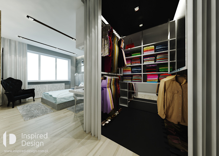 Walk in closet de estilo  por Inspired Design ,