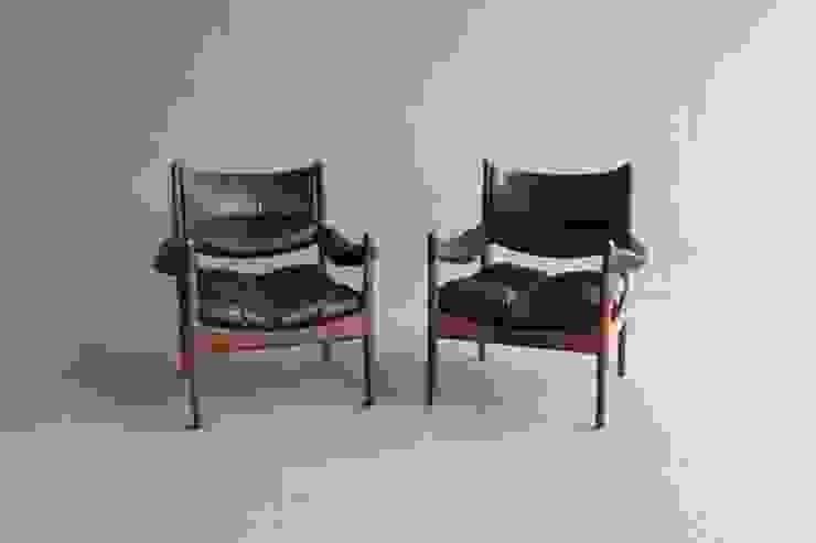 Rosewood Kristian Vedel Lounge Chairs por Retro Age Escandinavo Madeira maciça Multicolor