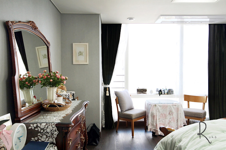 공사후: 로하디자인의  침실,모던