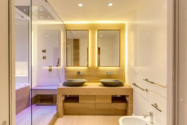 Modern style bathrooms by MOB ARCHITECTS Modern