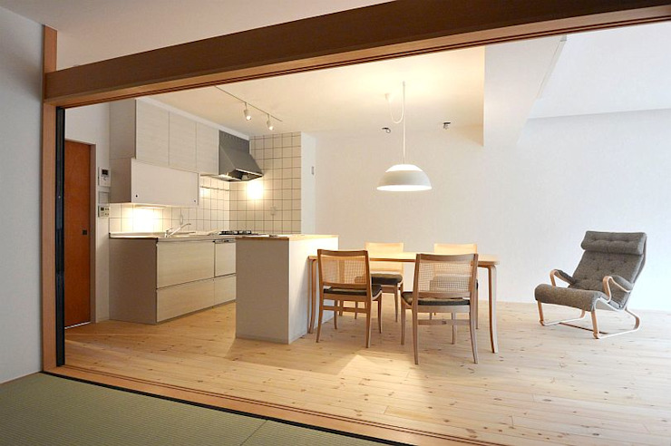 I宅 内部改修 マンションリノベーション オリジナルデザインの キッチン の すまい研究室 一級建築士事務所 オリジナル