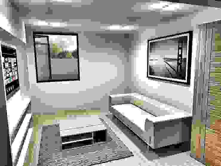 CaSA CC3 Design Process Salas multimedia modernas de CoRREA Arquitectos Moderno