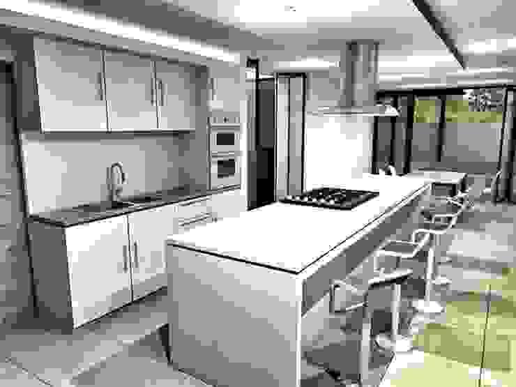CaSA CC3 Design Process Cocinas modernas de CoRREA Arquitectos Moderno