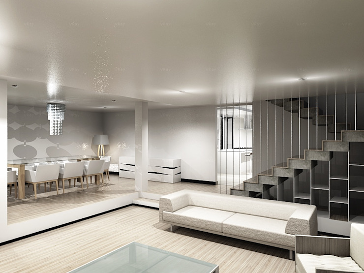 Modern living room by CoRREA Arquitectos Modern
