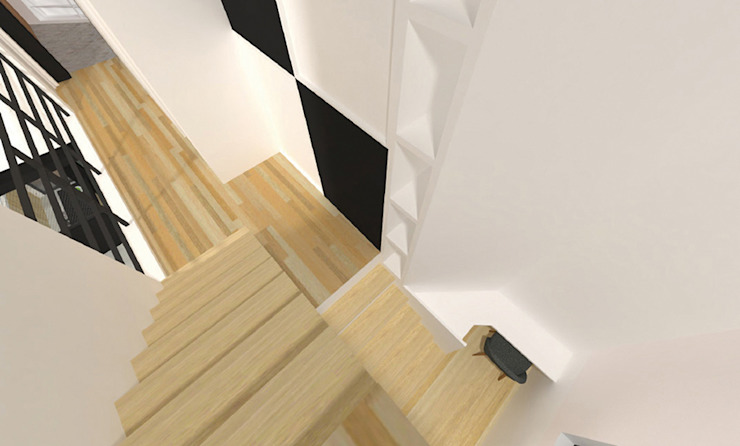 Modern Corridor, Hallway and Staircase by 한글주택(주) Modern