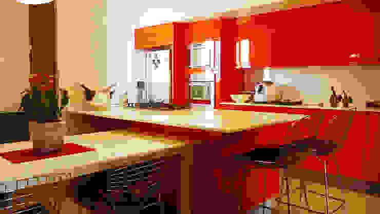 COZINHA GOURMET Cozinhas modernas por STUDIO LUIZ VENEZIANO Moderno Derivados de madeira Transparente