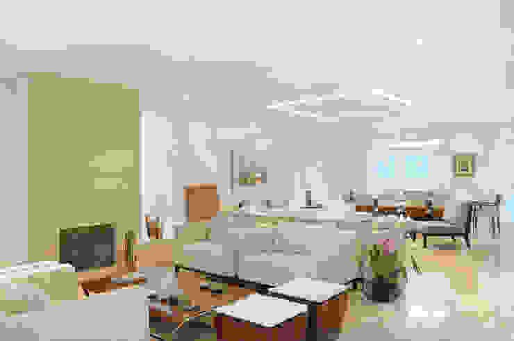 Living room by studio VIVADESIGN POR FLAVIA PORTELA ARQUITETURA + INTERIORES,