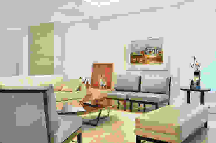 studio VIVADESIGN POR FLAVIA PORTELA ARQUITETURA + INTERIORES Modern living room Blue
