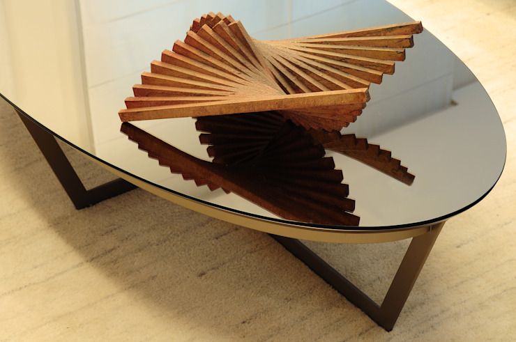 studio VIVADESIGN POR FLAVIA PORTELA ARQUITETURA + INTERIORES Modern living room Beige