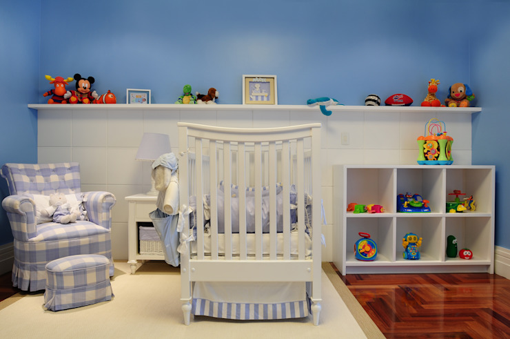 Nursery/kid's room by studio VIVADESIGN POR FLAVIA PORTELA ARQUITETURA + INTERIORES, Modern