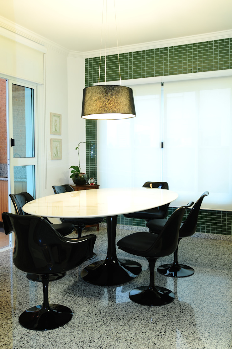 studio VIVADESIGN POR FLAVIA PORTELA ARQUITETURA + INTERIORES Modern kitchen Green