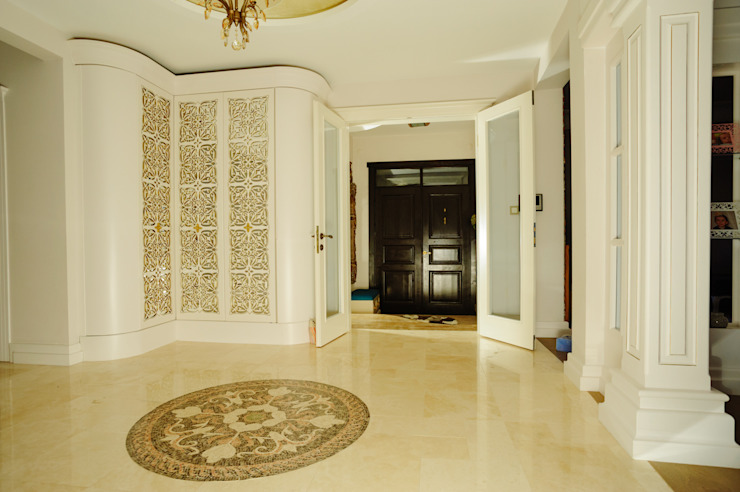 Modern corridor, hallway & stairs by Bilgece Tasarım Modern