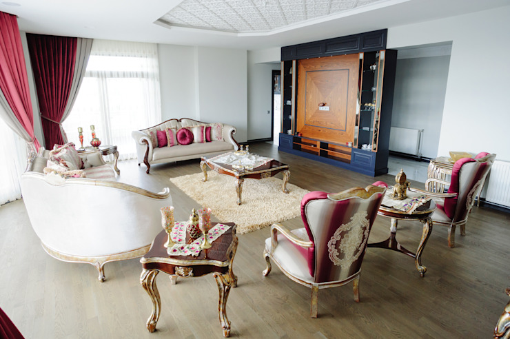 Living room by Bilgece Tasarım, Modern
