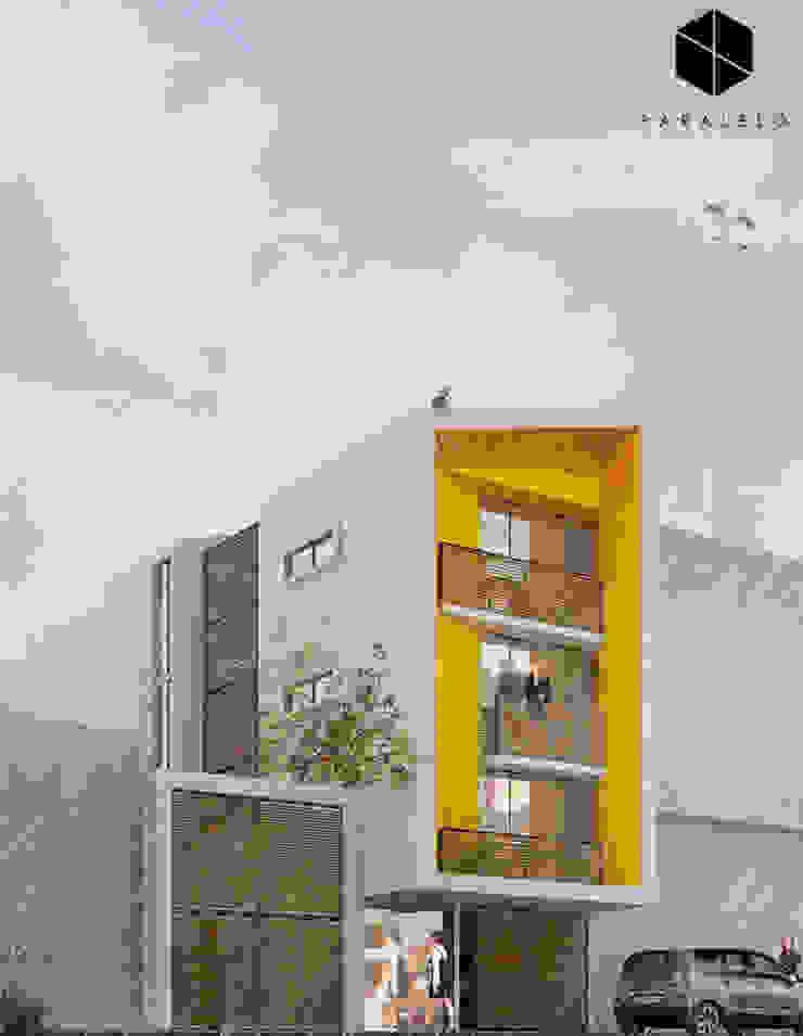 Fachada Principal de paralelocolectivo de arquitectos Moderno