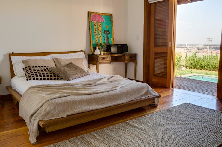 Flavio Vila Nova Arquitetura Country style bedroom