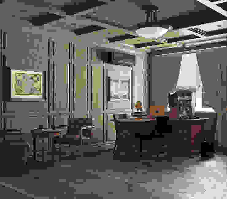 Estudios y oficinas de estilo  por homify, Clásico Madera Acabado en madera
