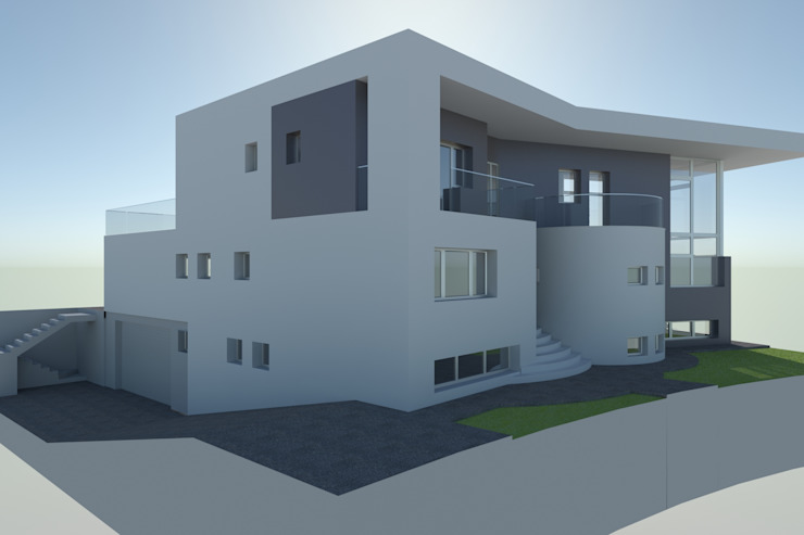 Vivienda moderna de espaldas al Oeste de DYOV STUDIO Arquitectura, Concepto Passivhaus Mediterraneo 653 77 38 06 Moderno Caliza